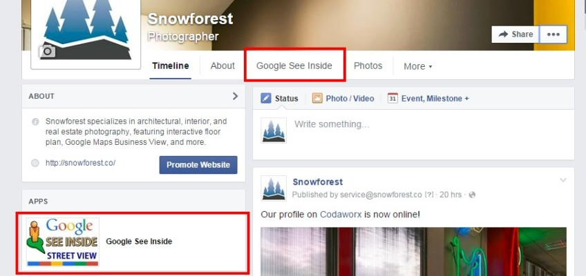 Embed Google Street View in your Facebook page