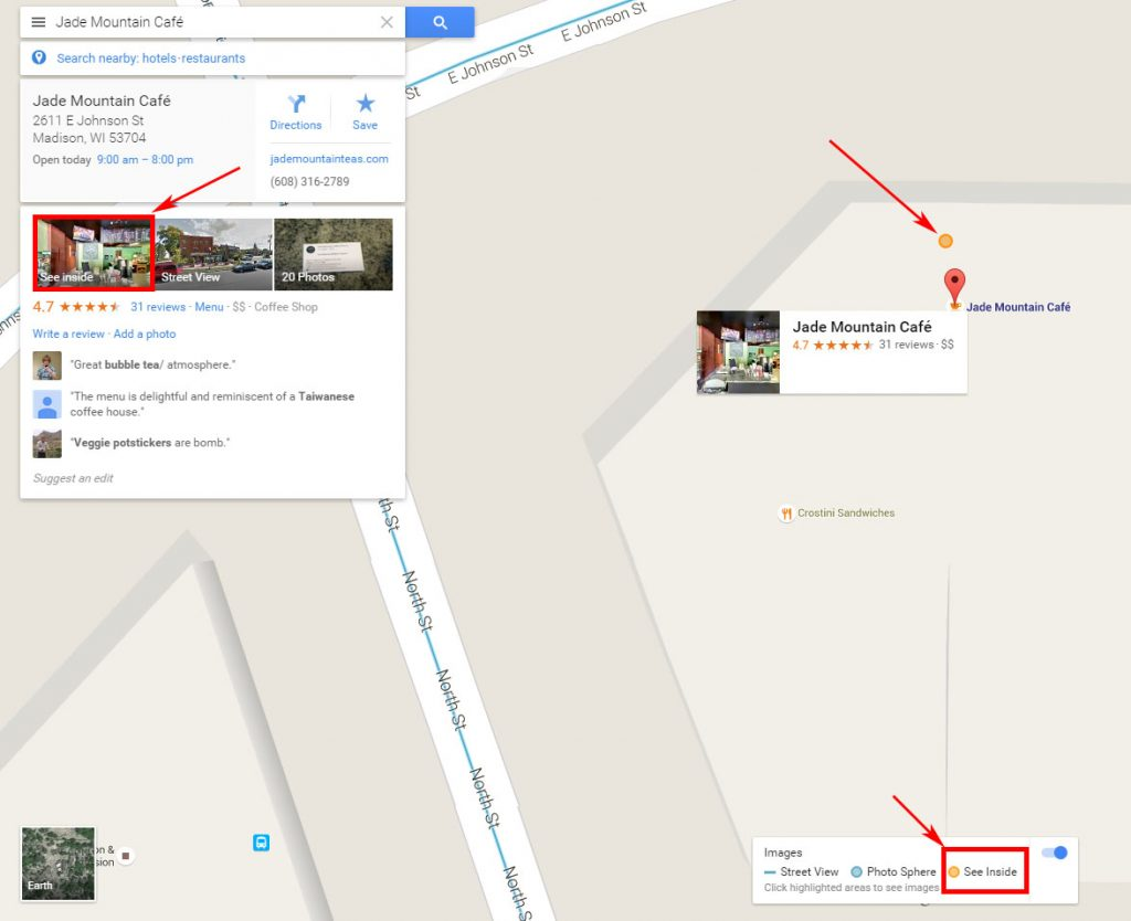 Jade Mountain Cafe on Google Maps