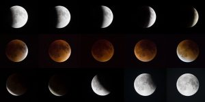 Supermoon and Total Lunar Eclipse © Snowforest 2015