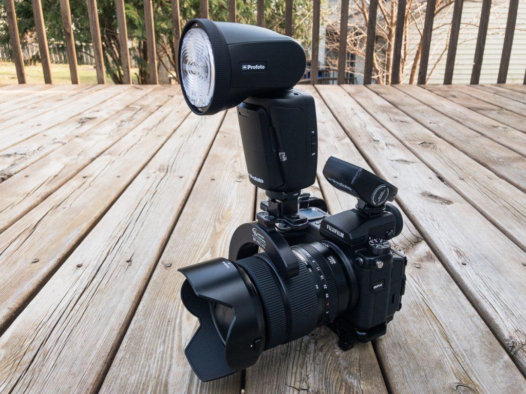 Profoto A1 and Fujifilm GFX-50S